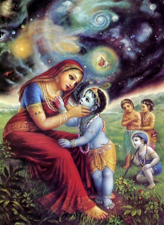 Krishna-eating-dirt