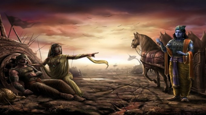 Stri-Parva-and-Gandhari's-Curse